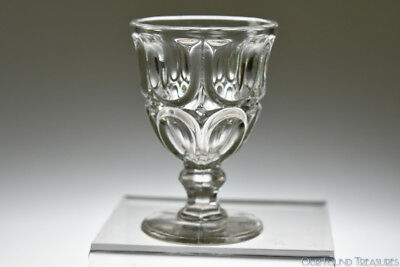 ca. 1869 EXCELSIOR by McKee Brothers Glass FLINT CRYSTAL Egg Cup