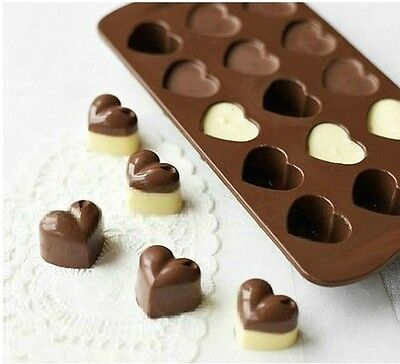 Bakeware Silicone Heart Chocolate Molds Jelly Ice Molds Cake Mould 1Pcs