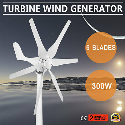 300W Wind Generator Turbine Dc/12V Max Electricity Move Mutely Wind Energy
