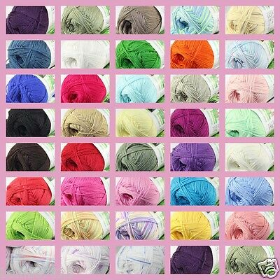 Sale New 1 Skein x 50g Super Soft Bamboo Cotton Baby Hand Knitting Crochet Yarn