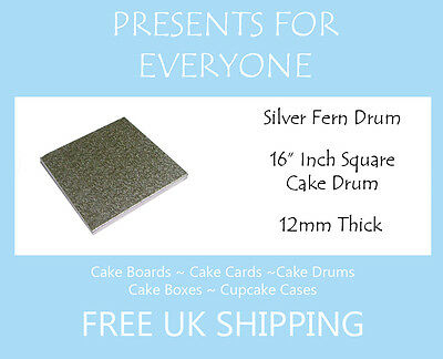 "10 x 16"" Inch Square Wedding Birthday Cake Drum / Board 12mm"
