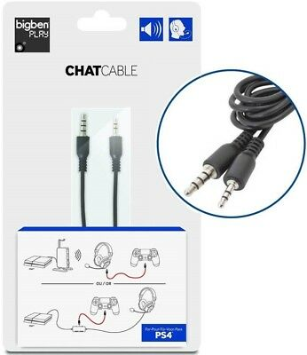 Chatkabel Chat Kabel Talkback Cable für Turtle Beach Headset an Sony PS4 Konsole