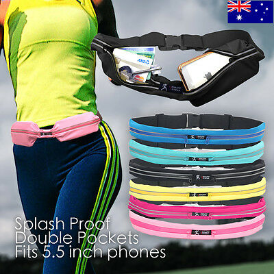 Water Resistant Running Belt Waist Bum Bag Expandable Pouch Cycling Jogging