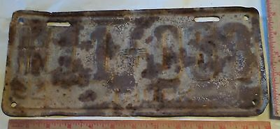 1932 New Mexico truck license plate vintage Rusty Rat Rod collectible old tag