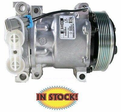 7176 Style Serpentine A//C Compressor TBI ACS7176C R134 Chrome