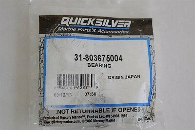 New Mercury Marine Mercruiser Quicksilver Bearing OEM Part #31-803675004