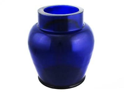 Beautiful Vintage Chinese Heavy Cobalt Blue Chinese Peking Glass Vase Hand Made
