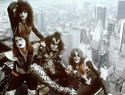 Kiss Gene Simmons Ace Frehley Paul Stanley Rock Band 8X10 Photo Photograph