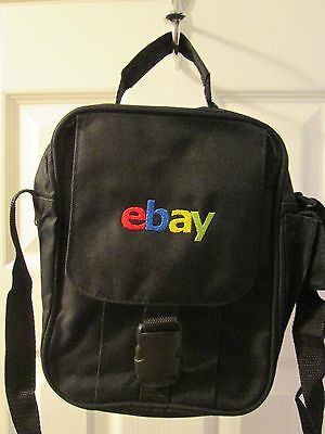 eBay Branded Messenger Utility Shoulder Bag New Logo eBayana Black NWOT