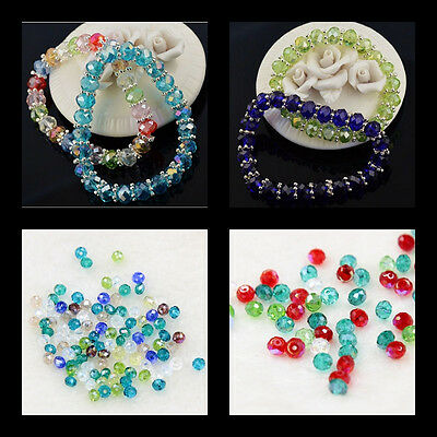 100 Pcs Mixed Color Crystal Glass Beads Phone/ Home Decor DIY New