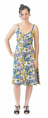 Ladies  Sleeveless Strap Maxi Dress with multicolored floral Pattern
