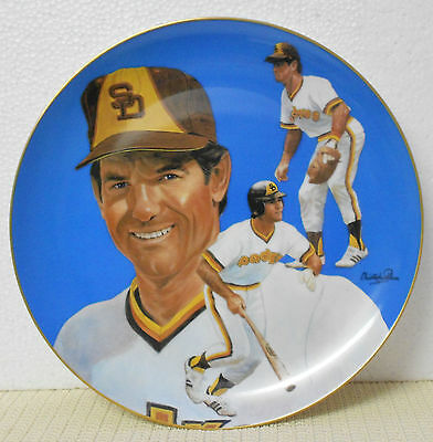 Steve Garvey Hand-Signed Limited Edition Plate # 2828 San Diego Padres