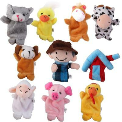 10x Old MacDonald Farm Animal Finger Puppets TOYS BOYS GIRL PARTY BAG FILLER