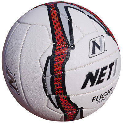 Net1 Flight Netball Sure Grip Technology Netball White/Grey/Red rrp£20