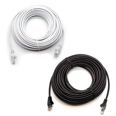 RJ45 Cat5e Network LAN Cable Ethernet Patch Lead Black 1m - 50m Wholesale