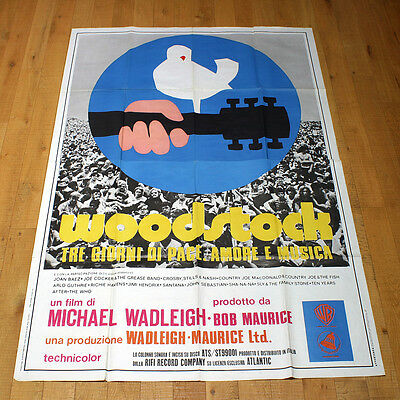 WOODSTOCK poster manifesto affiche Musical Jimi Hendrix Joan Baez The Who Cocker