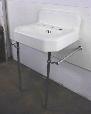 Antique Vintage American Standard Bathroom Sink 'Hexagon' Wall Hung Sink 1950's