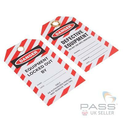 Lockout Tagout Tags - 'Defective Equipment - Do Not Use' - Pack of 10