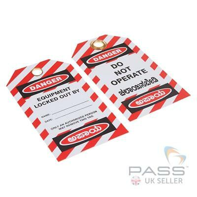 2 x Danger - Do Not Operate - Multi Language - Pack of 10