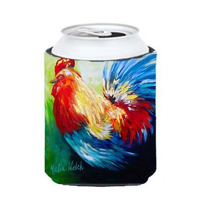 Carolines Treasures Bird Rooster Chief Big Feathers Can Or Bottle Hugger