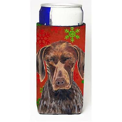 German Shorthaired Pointer Red Snowflakes Holiday Christmas Michelob Ultra s ...