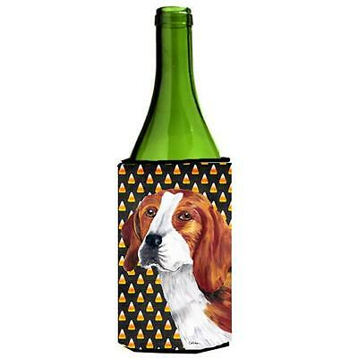 Beagle Candy Corn Halloween Portrait Wine Bottle Hugger 24 oz.