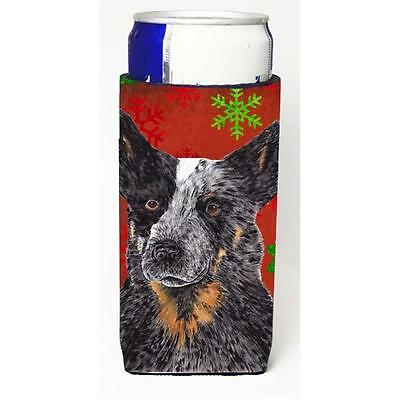Australian Cattle Dog Red Green Snowflakes Christmas Michelob Ultra s For Sli...
