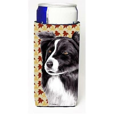 Border Collie Fall Leaves Portrait Michelob Ultra s For Slim Cans 12 oz.