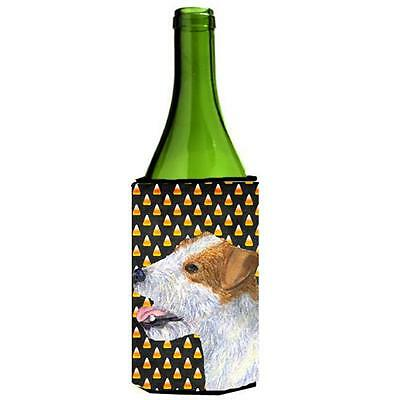 Jack Russell Terrier Candy Corn Halloween Portrait Wine Bottle Hugger 24 oz.