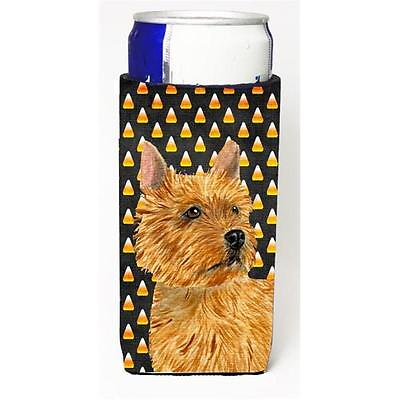 Norwich Terrier Candy Corn Halloween Portrait Michelob Ultra s for slim cans