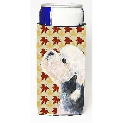 Dandie Dinmont Terrier Fall Leaves Portrait Michelob Ultra s For Slim Cans 12...