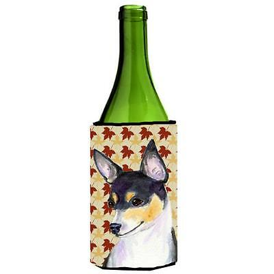 Carolines Treasures Chihuahua Fall Leaves Portrait Wine Bottle Hugger 24 oz.