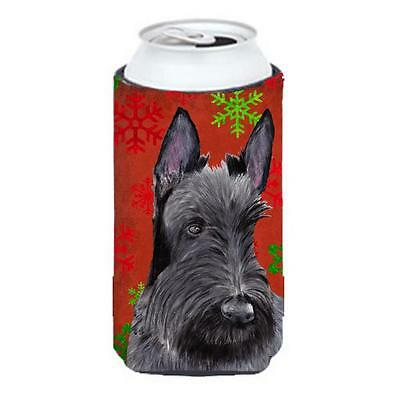 Scottish Terrier Snowflakes Holiday Christmas Tall Boy Hugger