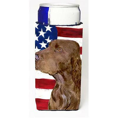 Usa American Flag With Field Spaniel Michelob Ultra s For Slim Cans 12 oz.
