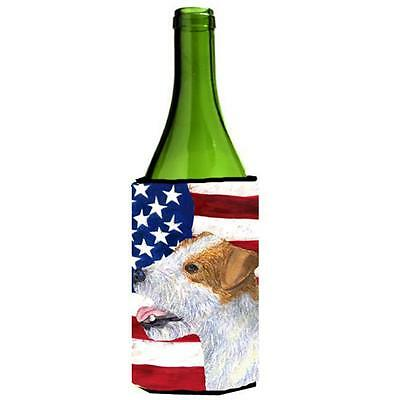 Usa American Flag With Jack Russell Terrier Wine Bottle Hugger 24 oz. • AUD 48.26