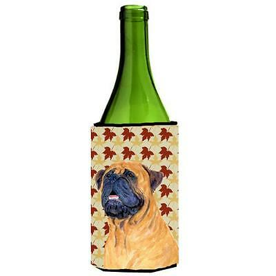 Carolines Treasures Mastiff Fall Leaves Portrait Wine Bottle Hugger 24 oz.