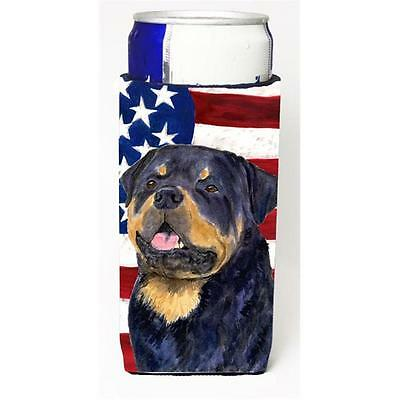 Usa American Flag With Rottweiler Michelob Ultra s For Slim Cans 12 oz. • AUD 47.47