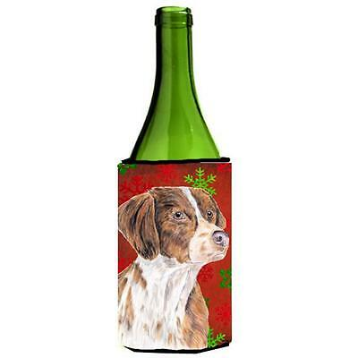 Brittany Red And Green Snowflakes Holiday Christmas Wine Bottle Hugger 24 oz.