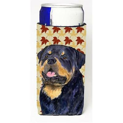 Rottweiler Fall Leaves Portrait Michelob Ultra s For Slim Cans 12 oz.