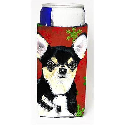Chihuahua Red & Green Snowflakes Holiday Christmas Michelob Ultra s For Slim ...