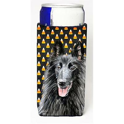 Belgian Sheepdog Candy Corn Halloween Portrait Michelob Ultra s For Slim Cans...