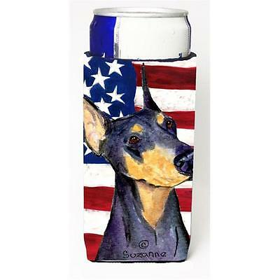 Usa American Flag With Doberman Michelob Ultra s For Slim Cans 12 oz.