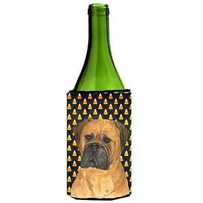 Bullmastiff Candy Corn Halloween Portrait Wine Bottle Hugger 24 oz.