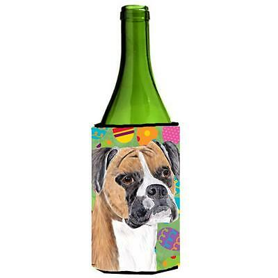 Carolines Treasures Boxer Easter Eggtravaganza Wine Bottle Hugger 24 oz.