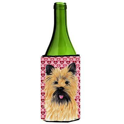 Cairn Terrier Hearts Valentines Day Portrait Wine bottle sleeve Hugger