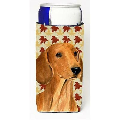 Dachshund Fall Leaves Portrait Michelob Ultra bottle sleeve for Slim Can
