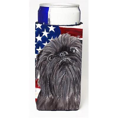 Brussels Griffon Usa American Flag Michelob Ultra bottle sleeves For Slim Can...