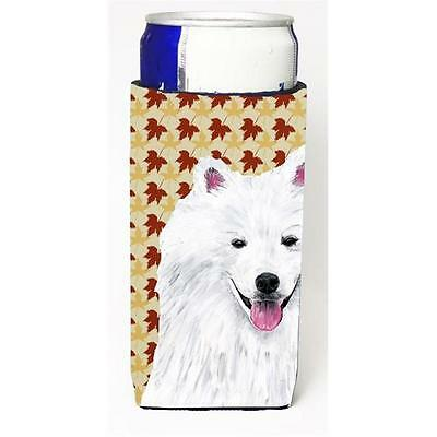 American Eskimo Fall Leaves Portrait Michelob Ultra s For Slim Cans 12 oz.