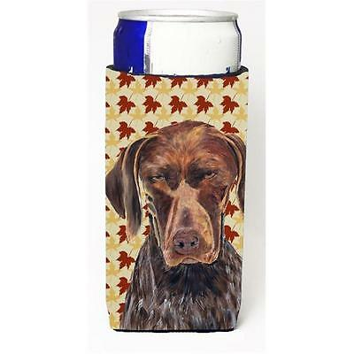 German Shorthaired Pointer Fall Leaves Portrait Michelob Ultra bottle sleeve ...