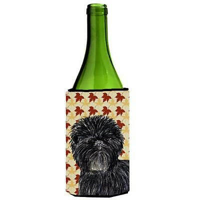 Affenpinscher Fall Leaves Portrait Wine bottle sleeve Hugger 24 oz.